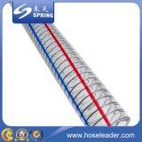 Pvc versterkte Flexibele Slang met de Draad van het Roestvrij staal