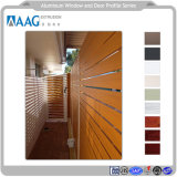 Profilo di alluminio personalizzato dei portelli e dell'inferriata ricoperti polvere della Camera del grano di Windows e di anodizzazione o legno