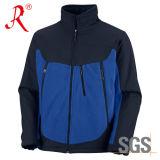 옥외 양털에 의하여 고리 안대기 Softshell 솔질되는 재킷 (QF-479)