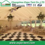 Transparente techo de la tienda de la boda de aluminio con luces LED