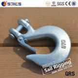 Crochet à glissière forgé en acier galvanisé H331 avec verrou