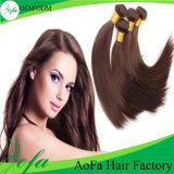 Prolongation de cheveux humains de Vierge de cheveux de Brésilien de la qualité 100%