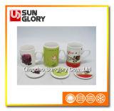 11oz Promotional Porcelain Mug met Ceramic Lid van Mkb017