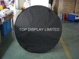 Tissu pop up d'impression une bannière Stand/Tissu Tissu Pop up une trame de signes d'affichage, statif au sol de signes de tissu