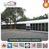 Tente en aluminium de bâti avec des portes de mur en verre et en verre pour les usagers et les mariages extérieurs