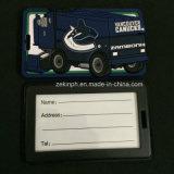 Custom Eco-Friendly titular do cartão de identificação de PVC de Borracha