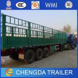 3 Viehbestand transportieren des Wellen-Zaun-Ladung-Schlussteil-50ton Zaun-Schlussteil