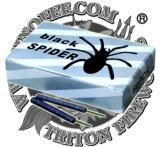 De zwarte Cracker van de Gelijke van de Spin met het Vuurwerk van de Zekering