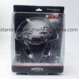 Caja de regalo de plástico de PVC Empaquetado Bandeja para auriculares con la caja de papel