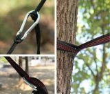 Polyester 100% bildete justierbare kampierende Hängematten-hängende Baum-Brücke