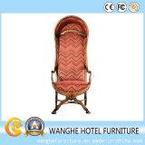 Presidenza di legno di svago della mobilia del ristorante dell'hotel con la parte posteriore della presidenza dell'uovo