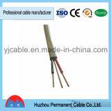 De PVC d'isolation de matériau jumeau à plat et câble électrique de la terre (BVVB+E)
