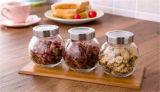Vaso di vetro spezia calda di vendita della mini con il coperchio del metallo