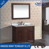 Mobilia di ceramica classica all'ingrosso della stanza da bagno dell'oggetto d'antiquariato del bacino di legno solido