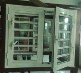 Guillotina de doble vidrio Casement Ventana de persiana con la barra de seguridad
