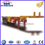 반 45FT 골격 콘테이너 수송 트레일러, 작은 거위 목 모양의 관을%s 가진 콘테이너 포좌 트럭 트레일러