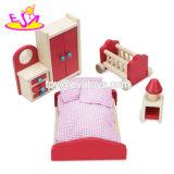 Nuova mobilia di legno della bambola miniatura più calda impostata per i bambini W06b068