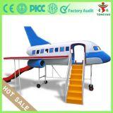 Parque infantil modelo de avión con la diapositiva Playground Firberglass mini avión para jardín de infantes