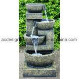 De modieuze Elegante Buitensporige Fontein van het Water van de Tuin van Polystone van Drie Laag Openlucht met Mooie LEIDEN Licht