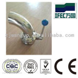 Válvula sanitária do produto comestível de aço inoxidável (IFEC-GV100012)