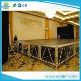 알루미늄 단계 플래트홈 옥외 연주회 단계 디자인 나무로 되는 단계 플래트홈