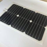 박막 태양 전지판 Sunpower 커트 20.5V 유연한 태양 전지판 20W
