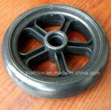 7X1 7X1.5 7X2 Rollstuhl-Polyurethan-Schaumgummi-Gummireifen-Reifen u. Rad mit Gabel