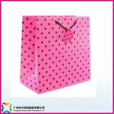 regalo de promoción de lujo personalizado Embalaje de papel bolsas de mano (XC-5-012)