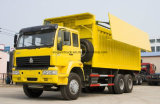 Het DrijfType van Vrachtwagen van de Stortplaats van het Merk van Sinotruk 6X4