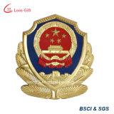 La polizia dell'emblema nazionale del metallo Badge