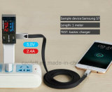 Zink-Legierungs-Flachdraht Charger&Transfer Daten androides USB-Kabel