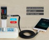 아연 합금 편평한 철사 Charger&Transfer 데이터 인조 인간 USB 케이블