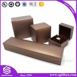 Caixa de presente de couro da jóia de Velet Perper do presente feito sob encomenda gama alta