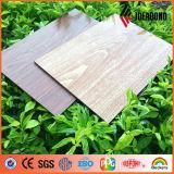 Panneau composé en aluminium de configuration en bois de certificat de GV (AE-302)