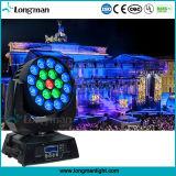 19*15W LED RGBW de movimentação de feixe de iluminação de palco para a Discoteca