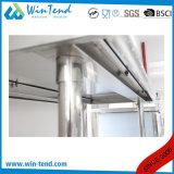 Banco di lavoro robusto di rinforzo mensola rotonda della cucina della costruzione del tubo dell'acciaio inossidabile con il piedino registrabile di altezza da vendere