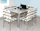 7 parti del rattan della presidenza dello scrittorio del marmo che pranza la mobilia stabilita del rattan