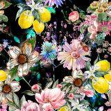 良い品質によって編まれるデジタル印刷の花のHabotaiの純粋な絹ファブリック