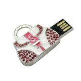 USB impermeável Pendrive da vara de cristal da memória do USB do metal