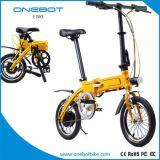 """Pédale 2017 d'Onebot 14 la """" a aidé le vélo électrique avec 250W le moteur, batterie au lithium de l'atterrisseur 7.8ah"""