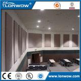 Покрынные тканью подгонянные панели стены стекла волокна акустические