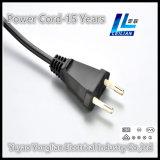 Plugue 2.5A 250V do cabo da potência europeia de dois pinos