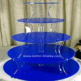 アクリルの水晶3のタイヤのケーキの立場(BTR-K3012)