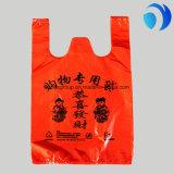 Le T-shirt en plastique de couleur met en sac l'impression faite sur commande