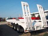 3 bâti de col de cygne de la longueur 60tons des essieux 13m/remorque inférieurs de Lowboy