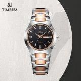 Horloge 72823 van de Mannen en van de Vrouwen van de Minnaars van het Horloge van het Staal van het Wolfram van de Diamant Horloges van de bedrijfs van het Paar Waterdicht Modieus