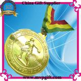 3Dロゴの彫版(m-mm05)が付いている金属のトロフィメダル