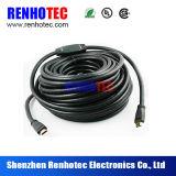 HDMI de energía eléctrica por cable y conector