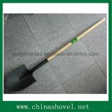 Herramienta agrícola ferroviario de acero espada de la pala con mango de madera