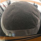 Волны волос 100% Toupee края PU фронта шнурка бразильской людской Remy свободной Mono низкопробный